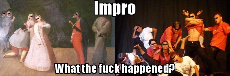 Comparaison entre la comedia dell'arte et de l'impro actuelle
